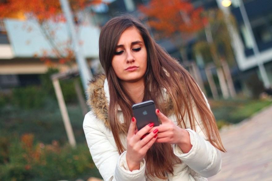 スマート フォン, 女性, 女の子, Iphone, アップル Inc, タッチ, デバイス, モバイル