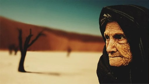 Old Woman, Desert, Old Age, Bedouin, Dry