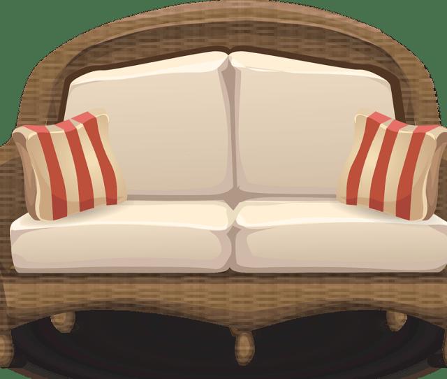 Couch Loveseat Sofa Furniture Wicker Living Room  C B Public Domain