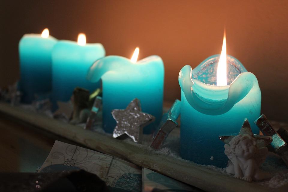 Kostenloses Foto Weihnachten Adventskranz Kerzen