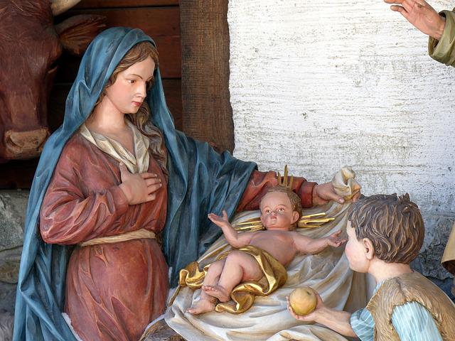 Jesus Flower Cradle