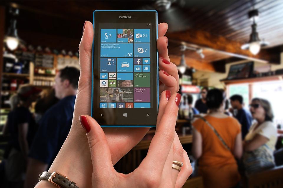 Nokia, Lumia, Microsoft, Donna, Sbarra, Telefono