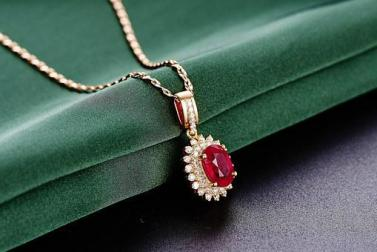 Jewelry, Ruby, Pendant, Jewelry, Ruby, Crystal, Healing