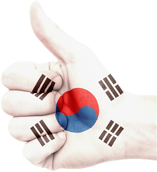 Hand, South Korea, Flag, National, Pride