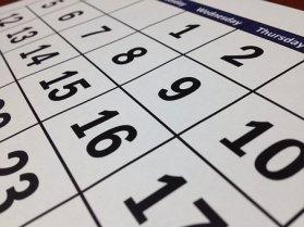 Calendar, Date, Time, Month, Week