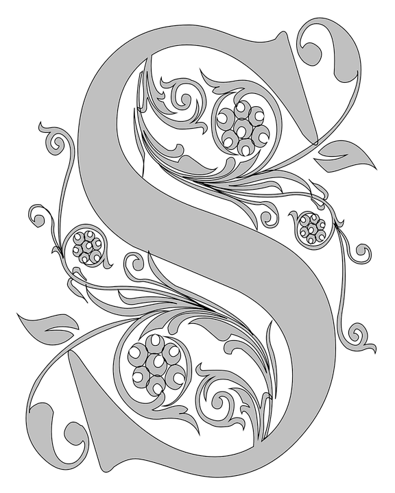 Monogram S Stencil Reagal Free Image On Pixabay