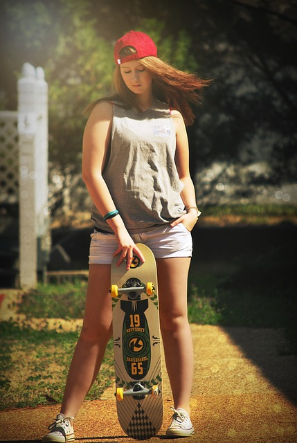Girl Skateboard Young Free Photo On Pixabay