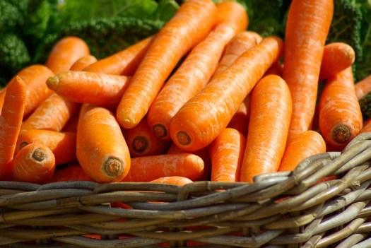 Carote, Cestino, Verdure, Mercato, Cibo