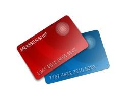 L'Adhésion, Carte, De Crédit, En Plastique, Membres