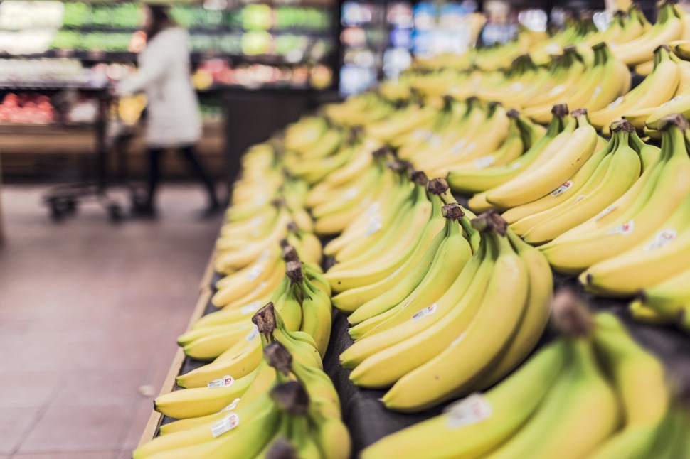 Banana in supermarket