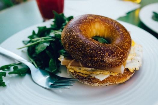 Prima Colazione, Bagel, Ham, Uovo, Sandwich, Spuntino