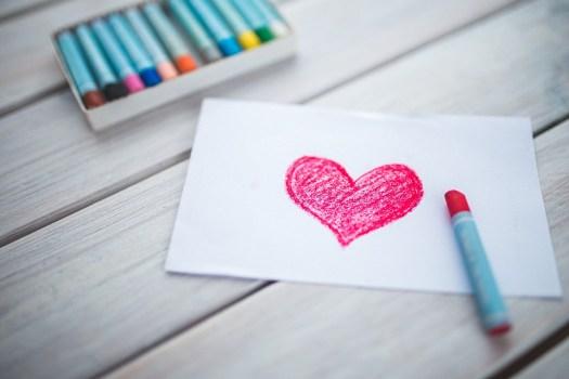 Cuore, Carta, Pastelli, Figura, Giorno Di San Valentino