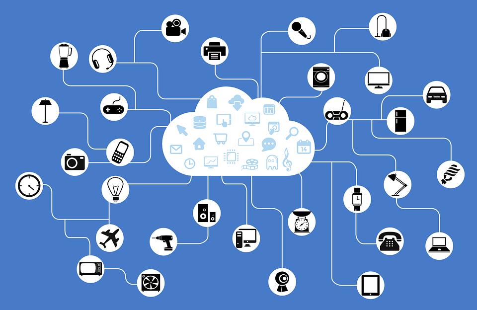 Rete, Iot, Internet Delle Cose, Connessione, Nuvola