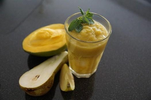Frullato, Frutta, Mango, Pera, Apple, Cibo, Vitamine