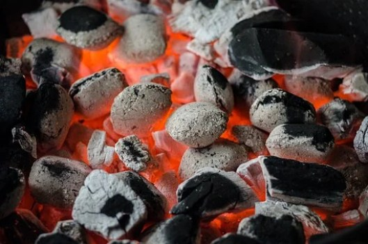 バーベキュー, 石炭, 火炎, グリル, ホット, ロースト, 熱, 残り火