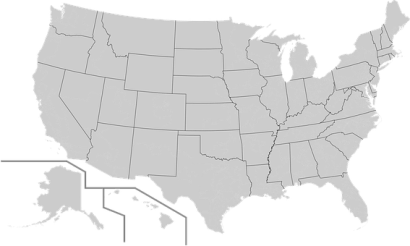Map, Usa, America, Geography, United