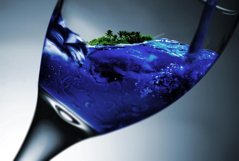 De Sticlă, Sticlă De Vin, Insulă, De Apă, Vacanţă, Vis