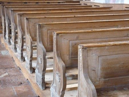 Kirchenbank, Holz, Kapelle, Christentum