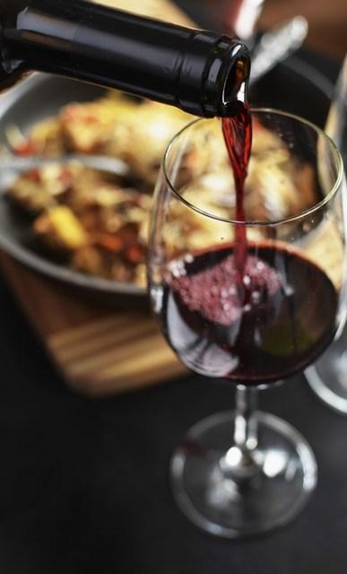 Vin, Red, Bouteille, Boire, Verre, Le Dîner