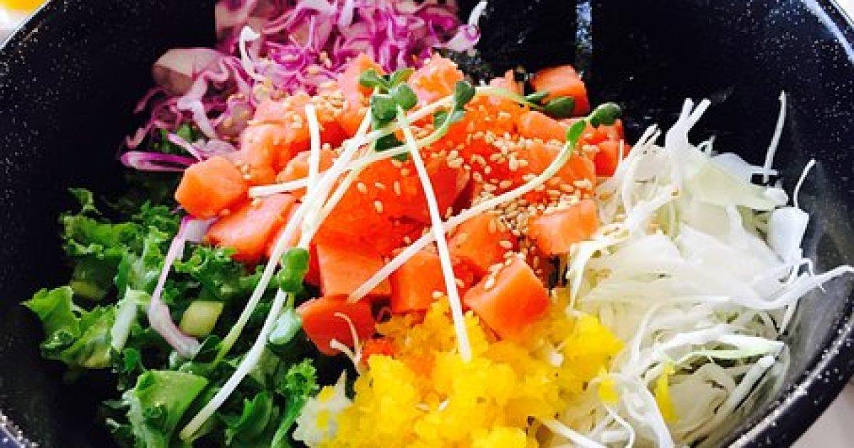 Food, Hoedeopbap, Salmon Hoedeopbap