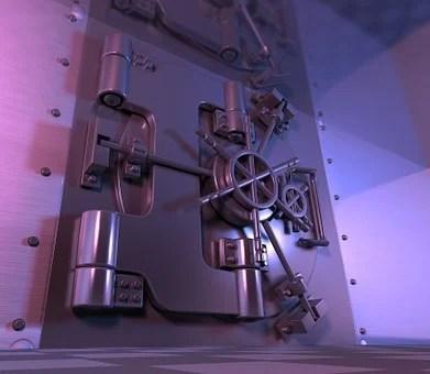 Safe, Vault, Steel Door, Banking