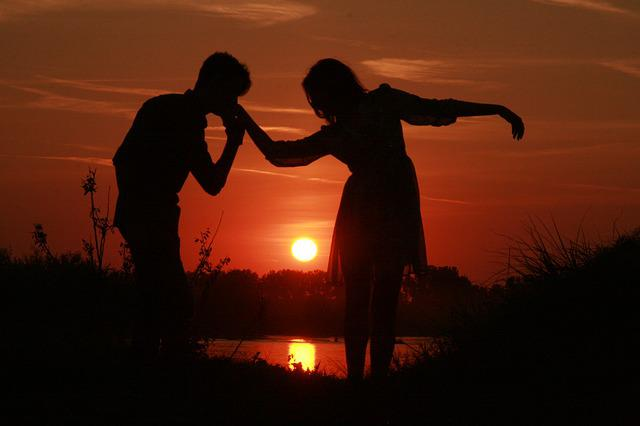 Free Photo Couple Love Sunset Water Sun Free Image