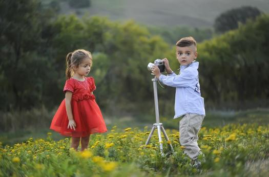 Fotografo, Scattare Foto, Moda, Bambini, Fratelli