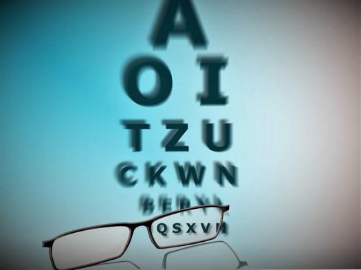Occhiali, Lettere, Test Degli Occhi, Visione, Dioptrin