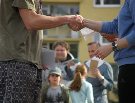 握手, おめでとうございます, 手, 振ります, 祝います
