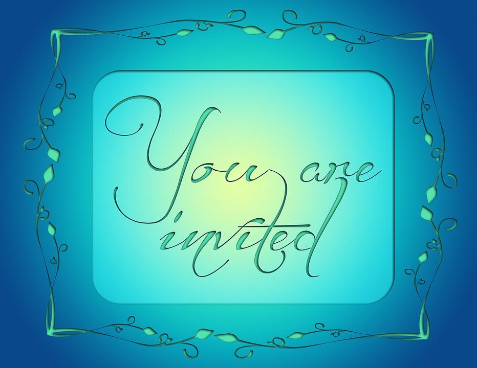 Undangan Mengundang Biru Gambar Gratis Di Pixabay