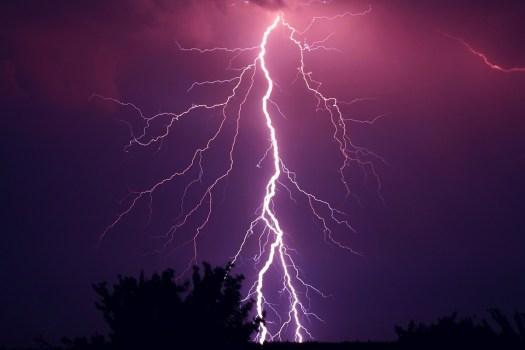 Tuono, Temporale, Viola, Purple, Tempesta, Meteo, Flash