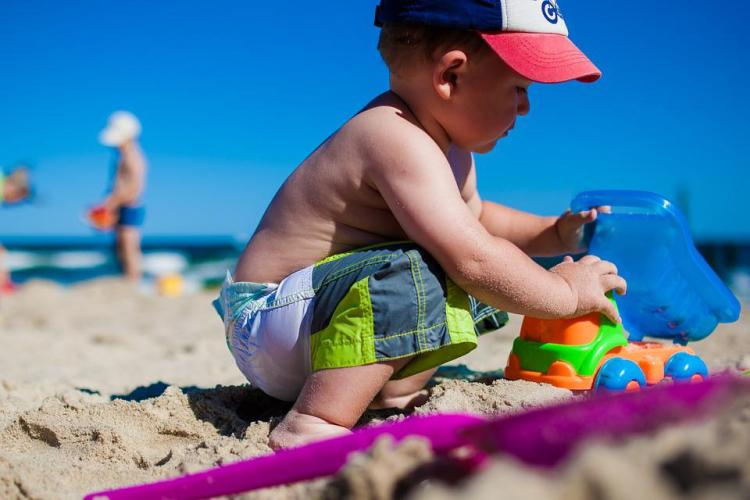 Boy, Child, Fun, Beach, Sea, Colors, Children