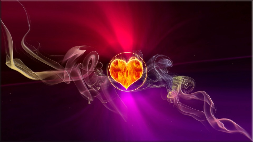Free Illustration Flame Heart Smoke Love Fire Free