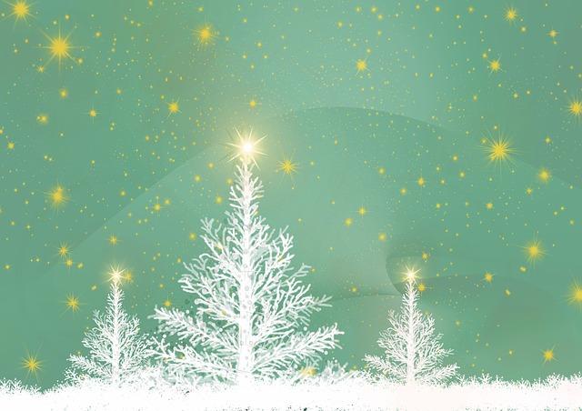 Free Illustration Greeting Card Christmas Tree Free