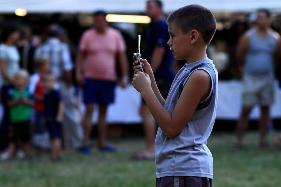 Ragazzo, Kid, Calore, Park, Festival, Scattare Foto