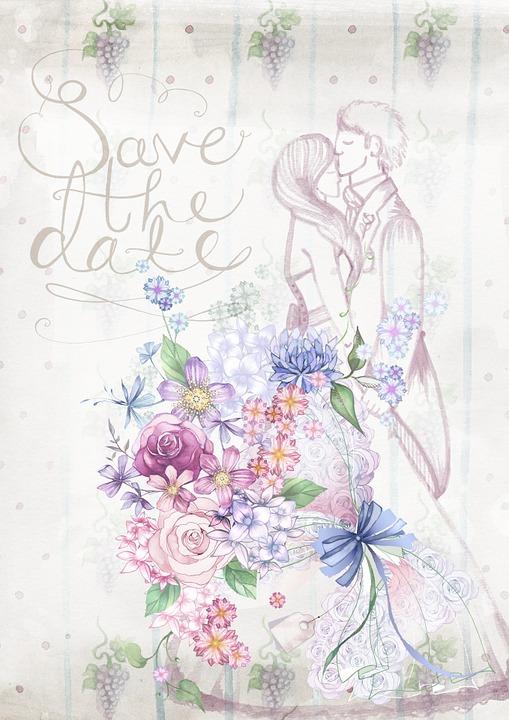 Pernikahan Undangan Bunga Gambar Gratis Di Pixabay