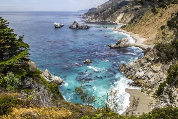 Big Sur, Californie, Pacifique, Mer, Nature, Océan