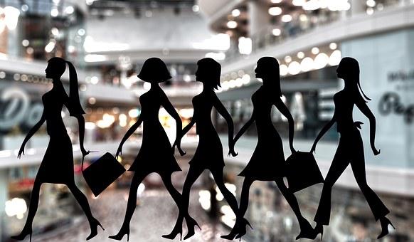 Shopping, Femmes, Boutiques