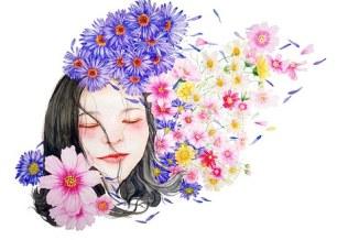 Watercolor, Portrait, Character, Girl