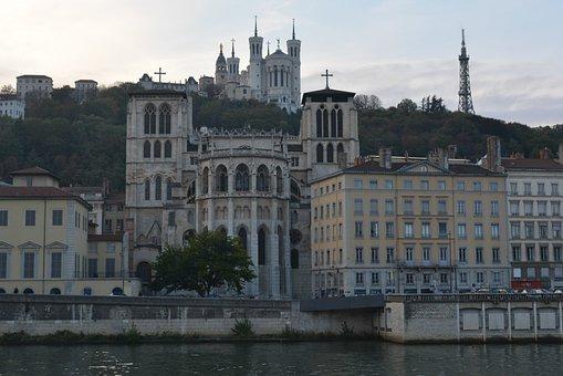 Lyon, Facades, Cathedral, Buildings