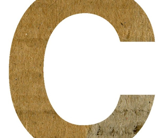 C Alphabet Letter Text Scrapbook Craft Paper