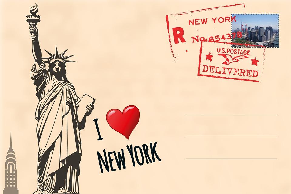 Free Illustration Postcard New York Free Image On