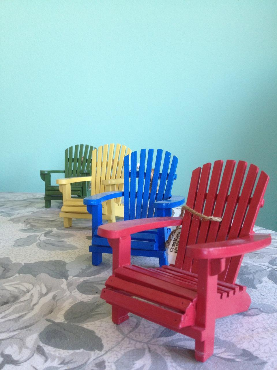 Adirondack Chairs Red Chair Blue Free Photo On Pixabay