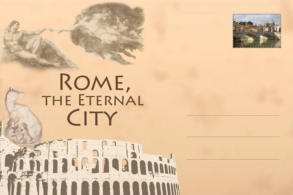 Free Illustration Postcard Rome Colosseum Free Image