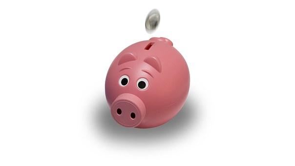 貯金箱, コイン, ピンク, 銀行, ファイナンス, お金, 通貨, ビジネス