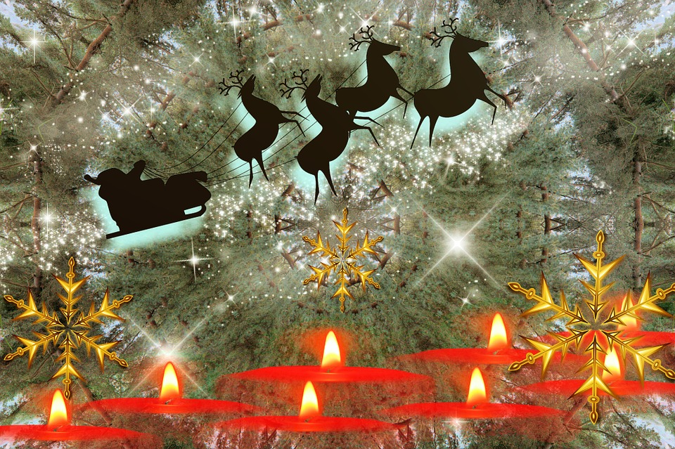 Weihnachtsmann Schlitten Kostenloses Bild Auf Pixabay