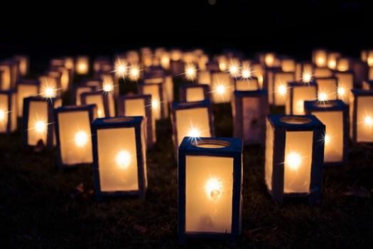 Luci, Luminari Di Natale, Notte, Buio, Decorazione