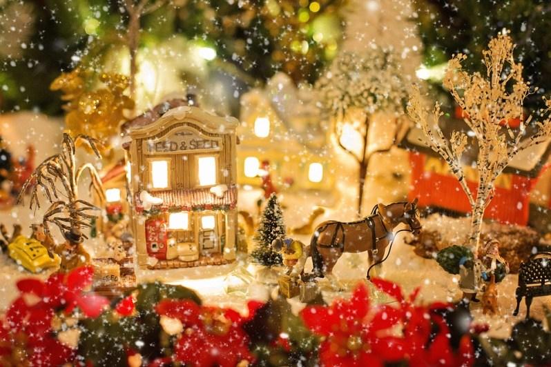 Village De Noël, Noël, Neige, Hiver, Vacances, Paysage