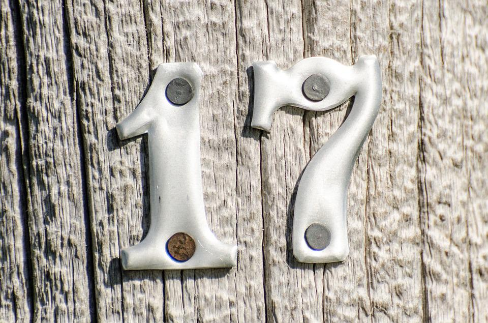 Numbers 17 Metal On Post Free Photo On Pixabay