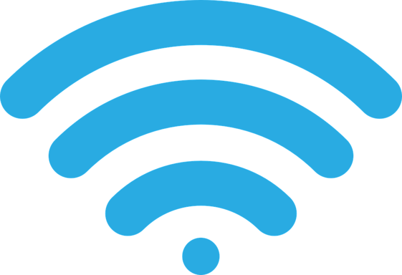 Segnale Wireless, Icona, Immagine, Vettoriale, Azzurro